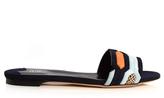Peter Pilotto Geometric suede flat sandals