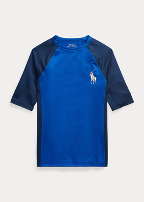 Ralph Lauren Big Pony Stretch Jersey Rash Guard
