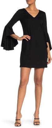 Bailey 44 Avalance Bell Sleeve Ponte Mini Dress