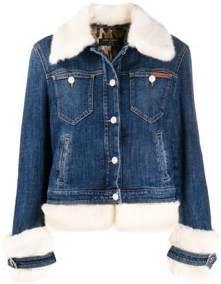 Dolce & Gabbana faux-fur trimmed denim jacket