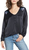 Obey Women's Naomi Embroidered Blouse