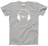 Silver 'Love' Headphones Tee - Girls