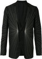 Rick Owens embroidered blazer - men - Cotton/Cupro/Viscose/Virgin Wool - 50