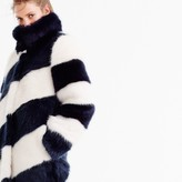 J.Crew for NET-A-PORTER® striped faux-fur coat