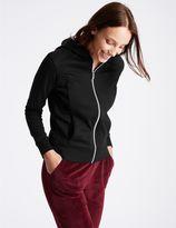 Marks and Spencer Cotton Blend Hooded Neck Long Sleeve Jacket