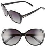 Polaroid Women's Eyewear 58Mm Polarized Sunglasses - Black/ Green/ Polarized