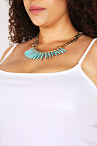 Yours Clothing Gold Statement Necklace With Removable Turquoise Stone Spike
