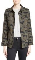 L'Agence Women's Camo Print Military Jacket