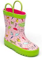 House of Fraser Chipmunks Girls pink raincats wellingtons