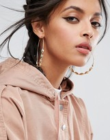 Asos Large Twist 75mm Hoop Earrings