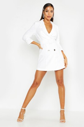 boohoo Woven Tailored Belted Blazer Dress