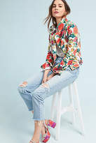 Pilcro and the Letterpress Pilcro Floral-Printed Moto Jacket