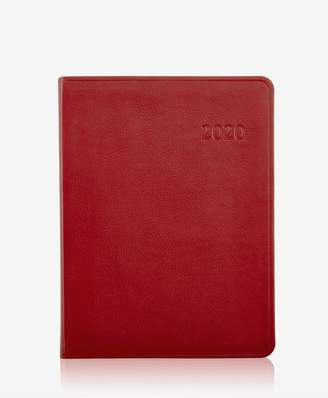 GiGi New York 2020 Desk Diary In Red Traditional Leather