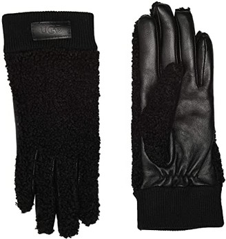 UGG Knit Cuff Sherpa Tech Gloves (Black) Extreme Cold Weather Gloves
