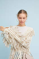 Anthropologie Orna Fringed Sweater
