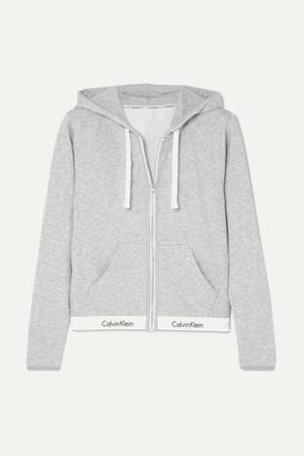Calvin Klein Underwear Cotton-blend Jersey Hoodie - Gray