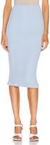 Acne Studios Rib Skirt in Ice Blue | FWRD