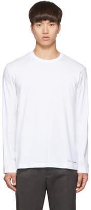 Comme des Garcons White Logo Hem Long Sleeve T-Shirt