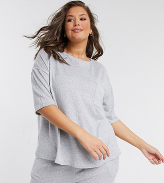 Simply Be t-shirt in gray marl