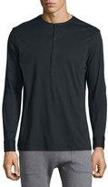 Helmut Lang Long-Sleeve Henley Shirt, Black