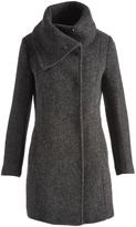 Cole Haan Charcoal Walker Cowl Neck Wool-Blend Coat