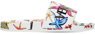 Versace Logo Printed Slide Sandals