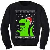 TeeStars - Big Green Trex Santa Ugly Christmas Sweater - Funny Kids Sweatshirt