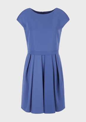 Emporio Armani Technical Cady Dress With Godet Pleats