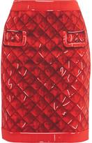 Moschino Printed Crepe Skirt - Red