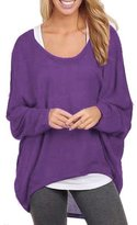 Changeshopping Womens Long Sleeve Pullover Sweater Oversized Baggy Loose Jumper Tops
