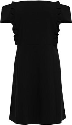 BA&SH Alie Off-the-shoulder Ruffled Crepe Mini Dress