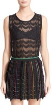 Missoni Women's Metallic Knit Sleeveles Top