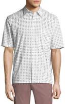 Theory Bruner Dotted Short-Sleeve Sport Shirt