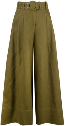 Nicholas Belted Flared Trousers