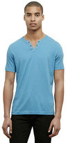 Kenneth Cole Short-Sleeve V-Neck Grommet T-Shirt