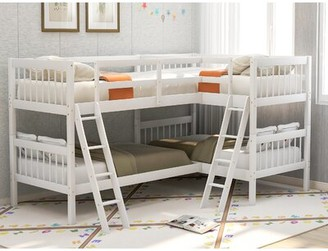 Latitude Run Abigel Twin L-Shaped Bunk Bed Bed Frame Color: White