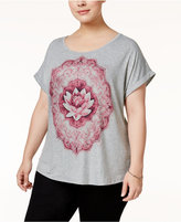 Style&Co. Style & Co Plus Size Lotus Graphic T-Shirt, Only at Macy's