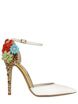 Dsquared - 110mm Lalique Studs And Flower Pumps