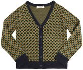 Nice Things Wool Blend Jacquard Cardigan