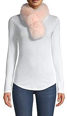 Adrienne Landau Women's Rex Rabbit Fur & Fox Fur Pull-Through Scarf