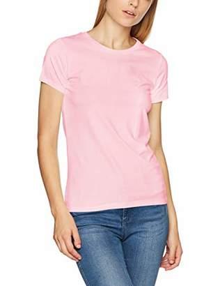 Gant Women's COTT/ELA C-Neck SS T-Shirt, White (Eggshell), (Size: M)