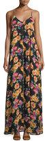 Lucca Couture V-Neck Sleeveless Maxi Dress, Black Multi