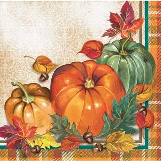 Creative Converting Traditional Thanksgiving Beverage Napkins, 48 count