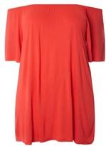 Evans Plus Size Women's Off The Shoulder Knit Top