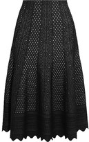 Alexander McQueen Pointelle-knit Midi Skirt - Black