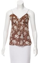 Chloé Sleeveless Floral Print Top