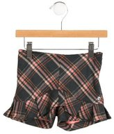 Christian Dior Girls' Plaid Wool Shorts