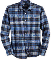 American Rag Men's Aztec-Print Plaid Shirt, Only at Macy's