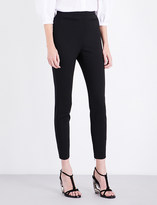 Alexander McQueen High-rise skinny wool-blend trousers