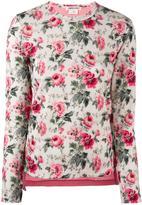 Comme des Garcons floral print sweatshirt - women - Wool - XS